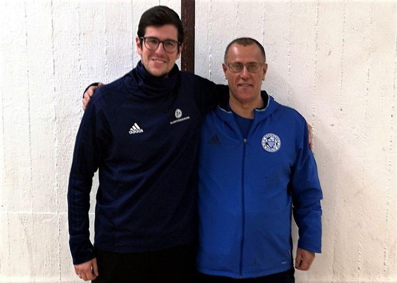 Christian Metke (l.) trainierte gemeinsam mit Tunçer Koçer (r.) die E-Jugend des MSV Normannia 08. Foto: BFV.